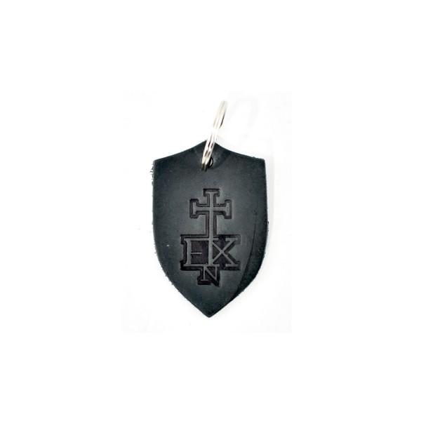 In Extremo Schlüsselanhänger Schild schwarz