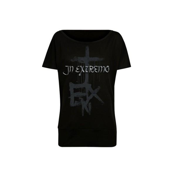 In Extremo Batwing Shirt Silberkreuz
